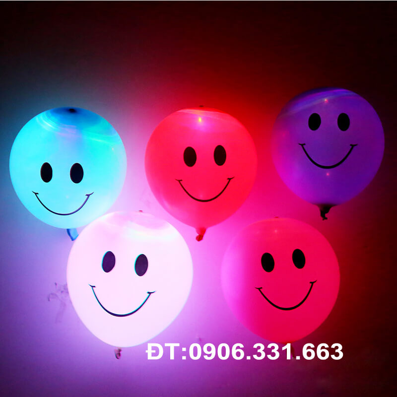 bong bóng led hình mặt cười