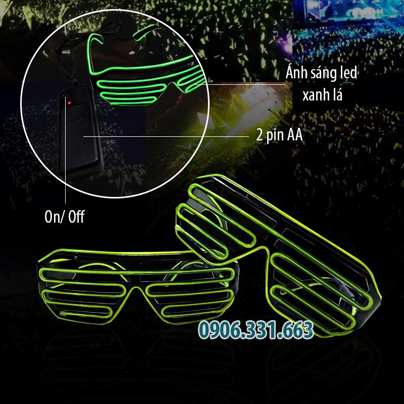 kính đèn led dj xanh lá