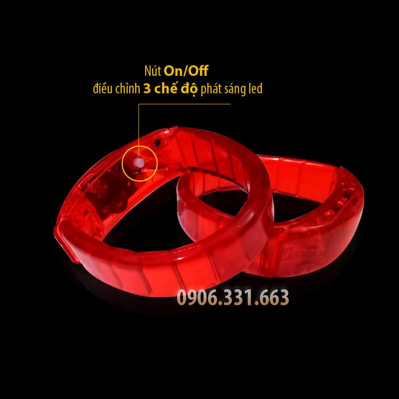 vòng đeo tay phát sáng đỏ