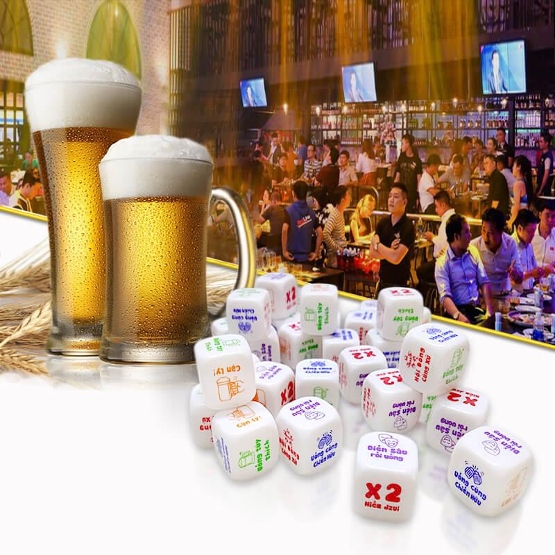 trò chơi xí ngầu uống bia